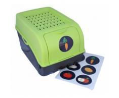 Boîte de conservation pour Pommes de terre, Légumes, Fruits, Oignons, Boîte de rangement en plastique, Volume de 7,7 litres en vert - Boite de rangement