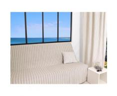 Jeté de canapé 170x250 cm COTONADE écru - Textile séjour