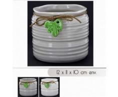 Bg petit pot de fleur vase en dolomite 12 x 11 x 10 cm decoration maison - Objet à poser