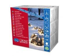 KONSTSMIDE 3748-100 FILET LUMINEUX 32 LED BLANC CHAUD + CÂBLE NOIR 24 V - Appliques et spots