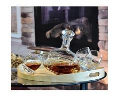 Carafe Toupie/Whisky ou Vin/750 ml/Produit fait main - Verrerie