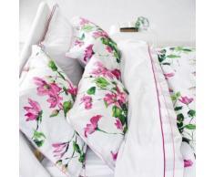 Designers Guild - Taie de traversin Satin de coton Primavera Zinc - 43 x 190 cm - Linge de lit