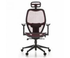 Siège de bureau / Fauteuil de direction AIR-PORT, tissu maille rouge Hjh Office - Sièges et fauteuils de bureau