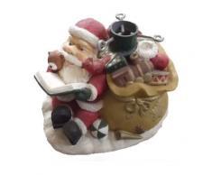 Pied de sapin décoré père Noël - Décoration de Noël - Objet à poser