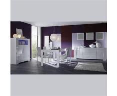 Nouvomeuble - Salle à manger complète design blanc laqué lima - Tables salle à manger