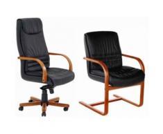 Fauteuil De Bureau Cuir Mathis - Sièges et fauteuils de bureau