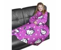 Hello Kitty - Couverture polaire avec manches - Enfant (90cm x 120cm) (Rose) - UTKF144 - Linge de lit