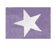 Tapis enfant coton étoile girly Lilipouce Mauve 120x160 cm - Tapis et paillasson
