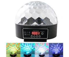 Boule à facette disco digitale multicolore lumineuse LED - Objet à poser