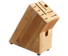 Zeller 2057792 bloc à couteaux en bambou marron 22 x 9 x 22 cm - Ustensiles