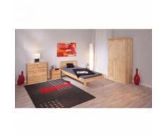 Armoire penderie dressing rangement chambre vintage 2 portes bois PIN massif - Armoire