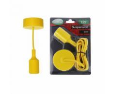 Suspension jaune vif avec douille pour ampoules LED culot E27 longueur 2m - Équipements électriques pour luminaire