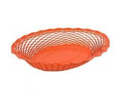 Corbeille pain vintage ovale orange roger orfevre 721137 - platerie, service