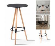 Table de bar ronde scandinave sara noire - Tables hautes