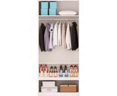 Armoire 100 cm -5 étagères-1 porte chaussures-blanc MAO - Armoire