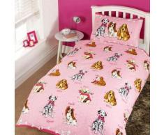 Parure de lit simple à motif chien - Enfant (Lit simple) (Rose) - UTSG7388 - Linge de lit
