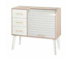 Meuble d'entrée à rideau, 3 tiroirs - ARKOS n°1 - Commodes