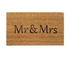 Humour Paillasson Essuie-Pieds - Mr & Mrs (40x70 cm) - Tapis et paillasson