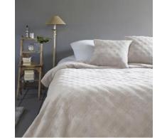 Dessus de lit de qualitÉ et ses 2 housses - 240 x 260 cm - beige - Linge de lit