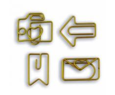 8 trombones fantaisie - dorés - Objet à poser