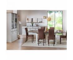 Salle à manger Complète Chêne gris/Frêne - BRUGY - Tables salle à manger