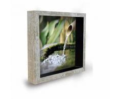 Tableau déco cadre vitrine 20x20 - Eau - Décoration murale