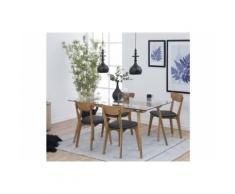 Table Moderne En Bois Et Verre Paixa - Tables salle à manger