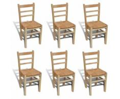 vidaXL 6x Chaise de Salle à Manger Bois de Pin Chaise de Cuisine Chaise à Manger - Chaise