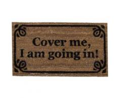 Humour Paillasson Essuie-Pieds - Cover Me, I Am Going In! Retro Style (40x70 cm) - Tapis et paillasson