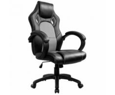 Racing Chaise de Bureau - IntimaTe WM Heart - Fauteuil de Bureau Moderne Confortable Ergonomique En Similicuir PU Haute Dossier Siège Gamer (gris) - Sièges et fauteuils de bureau