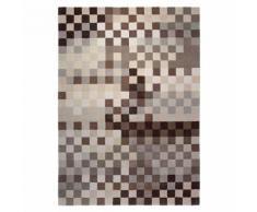 Tapis PIXEL par Esprit Home motif Géométrique Marron et beige 70x140 - Tapis et paillasson