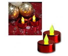 star t-light lot de 2 bougies rouge métallique piles incluses, emballées sous blister - Appliques et spots