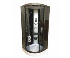 CABINE DE DOUCHE HYDROMASSANTE 90 x 90 cm SPA CHROMETHERAPIE BAIN HYDROMASSAGE Modèle TORONTO - Installations salles de bain