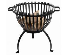 Brasero en acier noir diamètre 50 cm