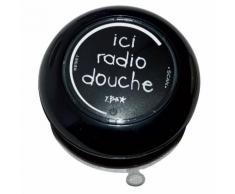Radio de douche en polypropylène Ici Radio Douche noir D.9.5cm BASICS