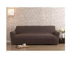 Housse de canapé 2 places bi-extensible LISA Taupe
