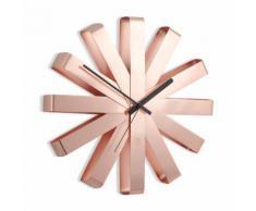 Horloge murale en métal forme flocon D.30.5cm RIBBON Cuivre