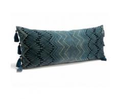 Coussin avec pompon 100% coton L.40cm x H.100cm motif art déco GRAND HOTEL