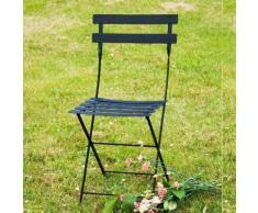 Chaise pliante en acier laqué lattes galbées - lot de 2 BISTRO Cèdre