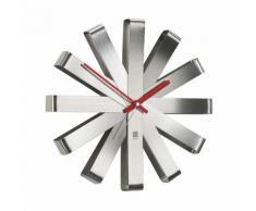 Horloge murale en métal forme flocon D.30.5cm RIBBON Acier