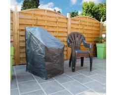 Housse de protection 6 chaise empilées 68x68xH110 cm gris/noir GRAPHITE