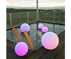 Boule lumineuse extérieure LED multicolore sans fil en polyéthylène Buly 60cm