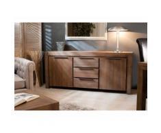 Buffet bas en bois 2 portes 3 tiroirs L180cm ARIA