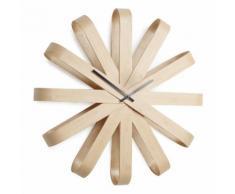 Horloge murale en bois forme flocon D.51.4cm RIBBONWOOD