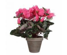 Fleur artificielle cyclamen en pot gris H.30cm ELLIOT Rose