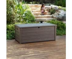 Coffre de jardin Résine 145x70x60cm - 455 Litres - Taupe DELUXE