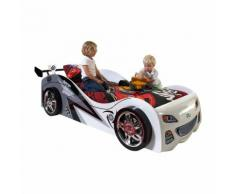 Lit voiture de courses avec sommier Couchage 90x200 cm RAPIDO