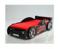 Lit voiture de courses avec sommier Couchage 90x200 cm CHALLENGER