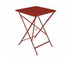 Table de jardin carrée pliante Acier laqué BISTRO Piment d'espelette 57x57cm