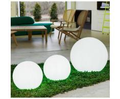 Boule lumineuse extérieure en polyéthylène blanc Buly 60cm